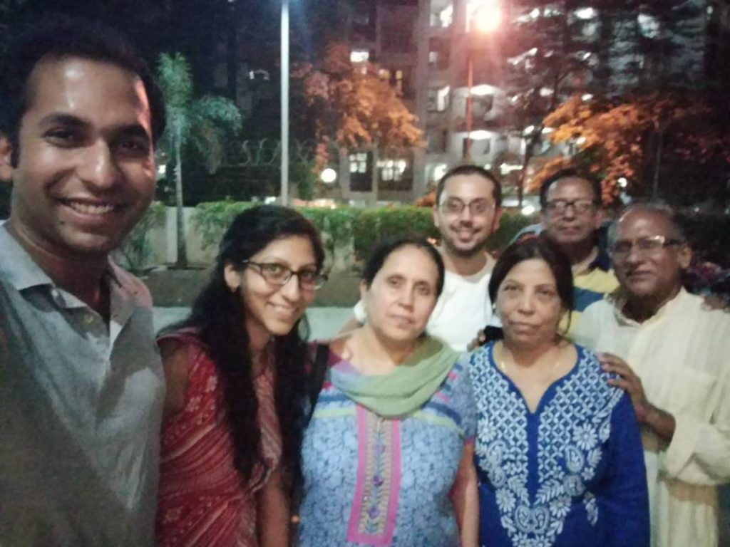 Family of Maj Nisheet Dogra during happier times