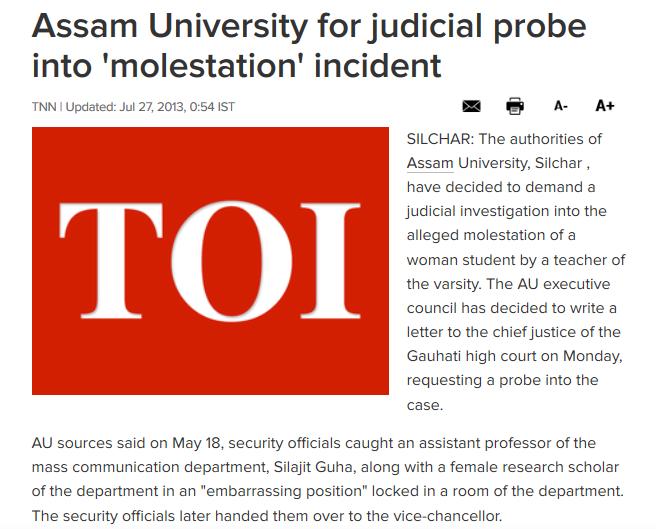 Silajit Guha Sikkim University repeat offender