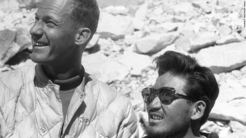 Nawang Gombu and Jim Whittaker, summited Mount Everest together in 1963.