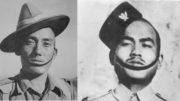 Victoria Cross winners Netra Bahadur Thapa and Againsingh Rai