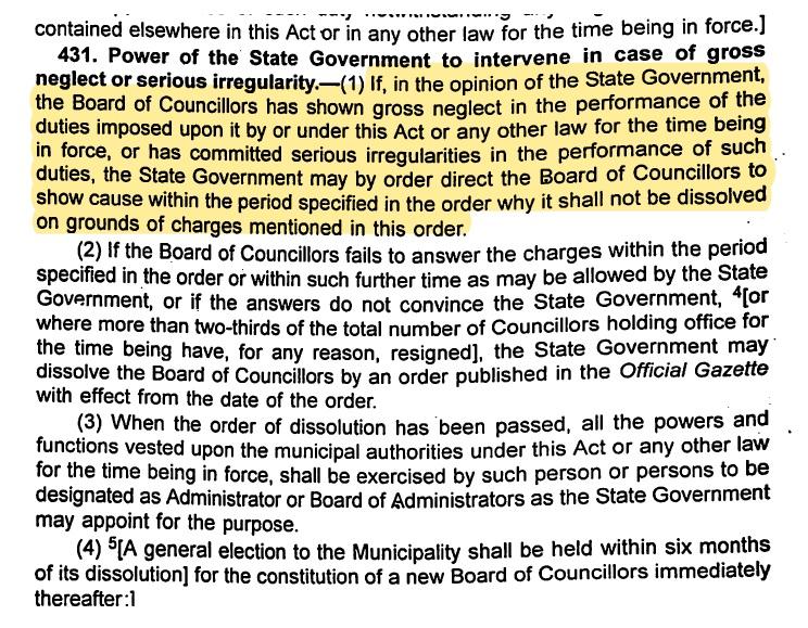 West Bengal Municipal Act 1993