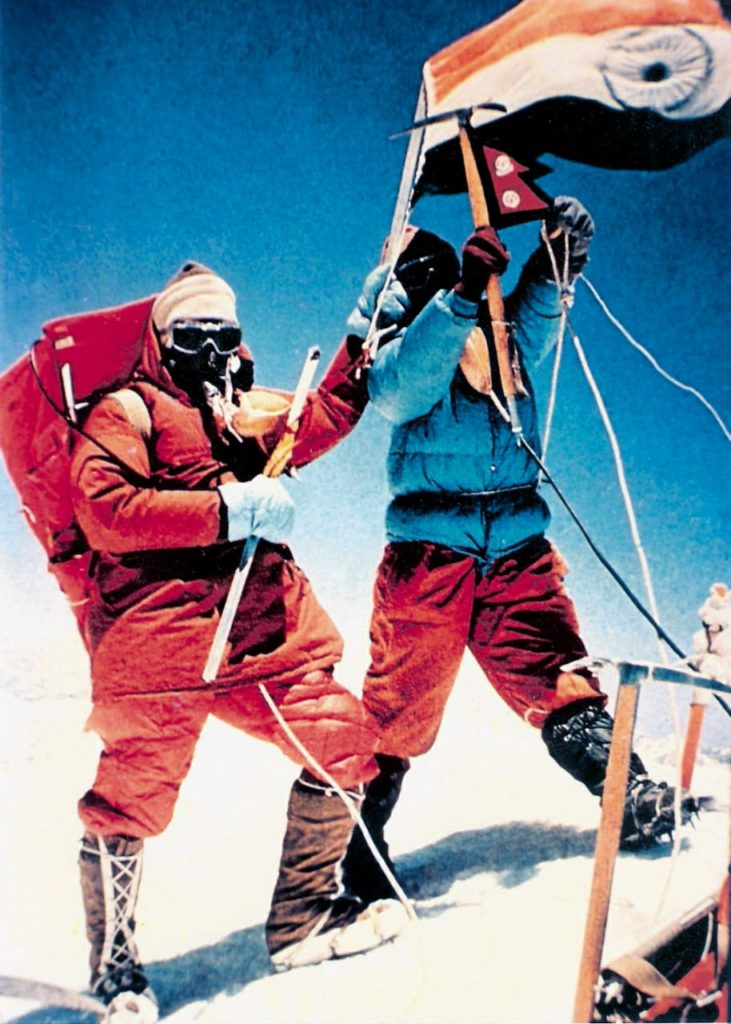 Nawang Gombu and Captain A.S. Cheema were the first of 9 summiteers from Indian '65 expedition