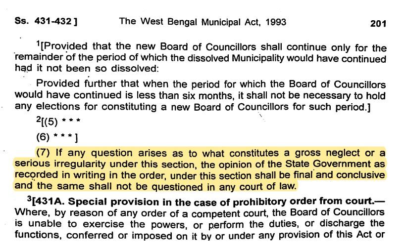 Dissolution of Darjeeling Municipality