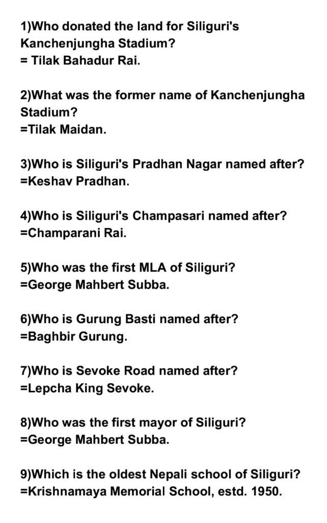 Siliguri Gorkha History