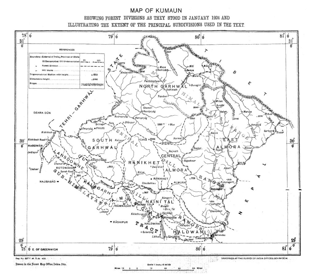 Present boundary map is based on Survey General of India 1879 Map