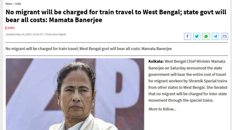 West Bengal Shramik Special Trains