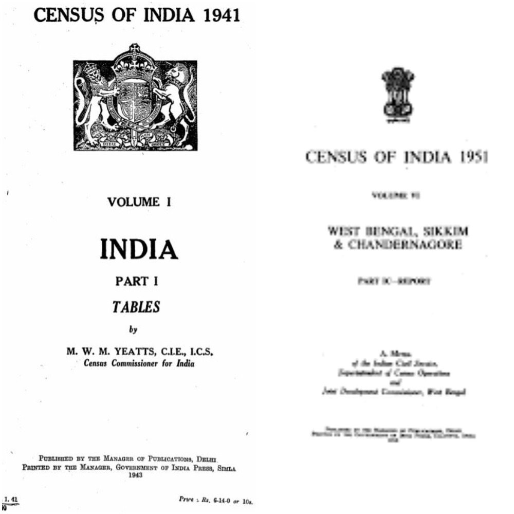 Census reports of 1941 ans 51