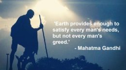 Mahatma Gandhi - Environment Sustainability